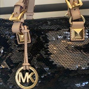 Michael Kors, black, sequin purse